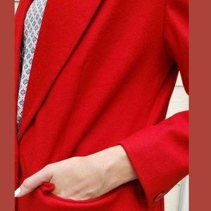 Pendleton Jackets & Coats - Pendleton Red Blazer Jacket Work Wool Womens 8 M